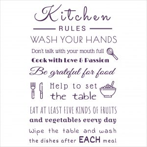 Decorative lettering wall sticker by CaptainText: Kitchen Rules