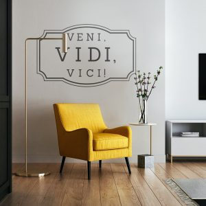 Decorative lettering wall sticker by CaptainText: Veni vidi vici