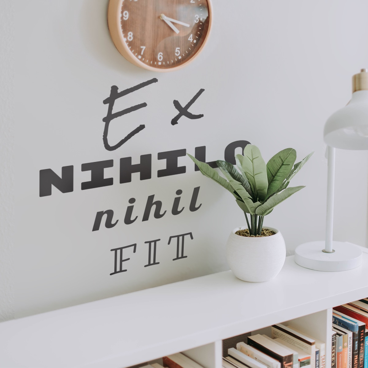 Decorative lettering wall sticker by CaptainText: Ex Nihilo Nihil Fit