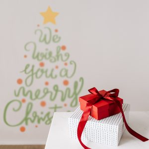 Decorative lettering wall sticker by CaptainText: Merry Christmas