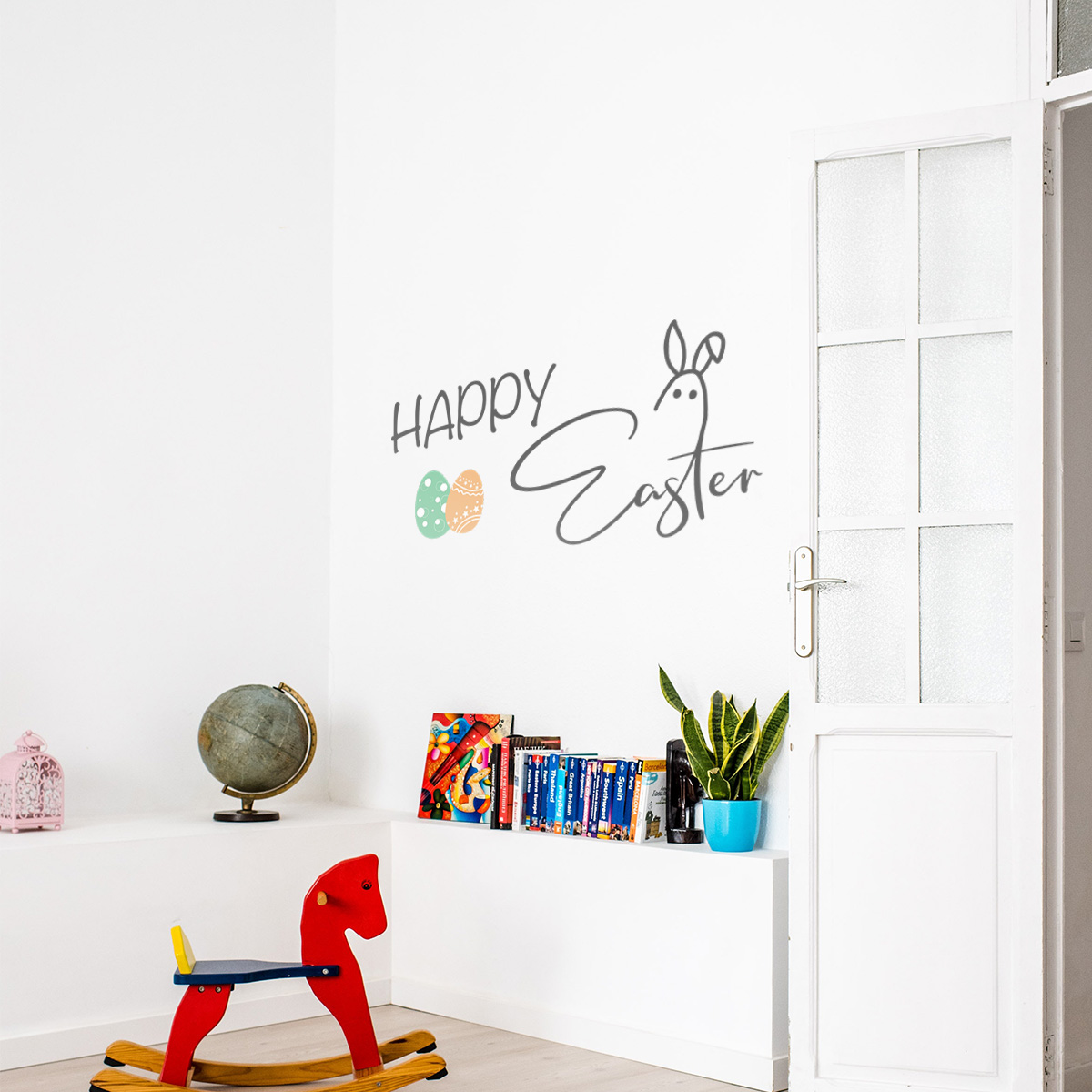 Decorative lettering wall sticker by CaptainText: happy easter