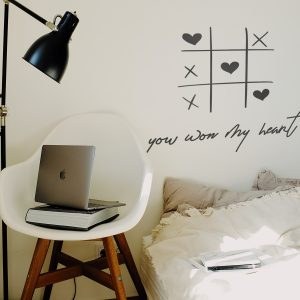 Decorative lettering wall sticker by CaptainText: you won my heart