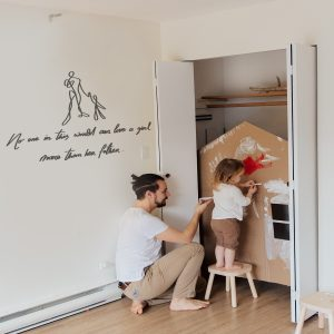 Decorative lettering wall sticker by CaptainText: daughter & father