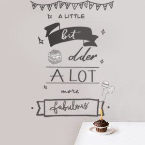 Decorative lettering wall sticker by CaptainText: birthday party