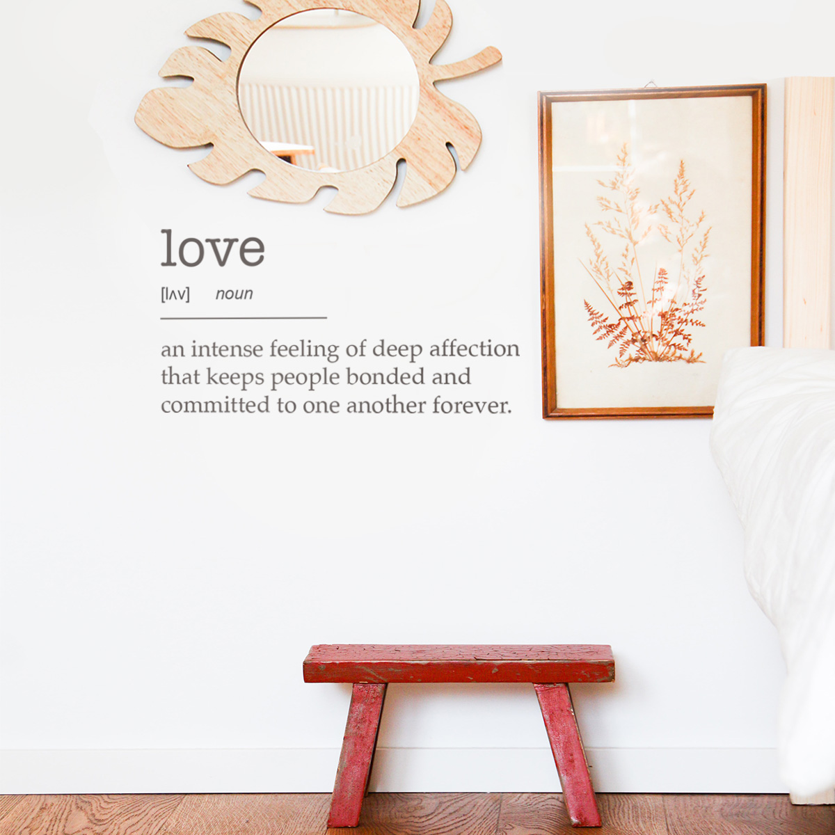 Decorative lettering wall sticker by CaptainText: love defined