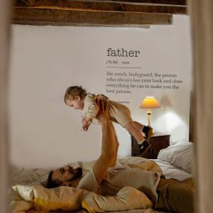 Decorative lettering wall sticker by CaptainText: father defined