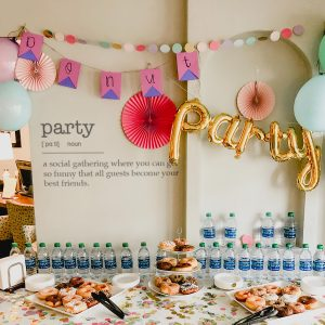 Decorative lettering wall sticker by CaptainText: party defined