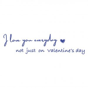 Decorative lettering wall sticker by CaptainText: I love everyday