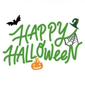 Decorative lettering wall sticker by CaptainText: Happy Halloween