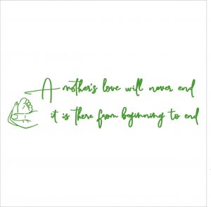 Decorative lettering wall sticker by CaptainText: mother's love