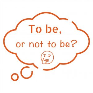 Decorative lettering wall sticker by CaptainText: To be or not to be