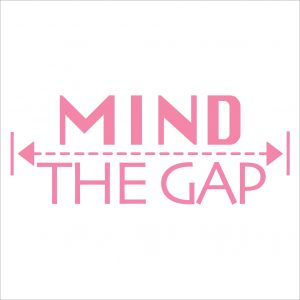 Decorative lettering wall sticker by CaptainText: Mind The Gap