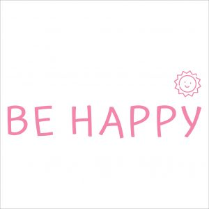 Decorative lettering wall sticker by CaptainText: Be Happy
