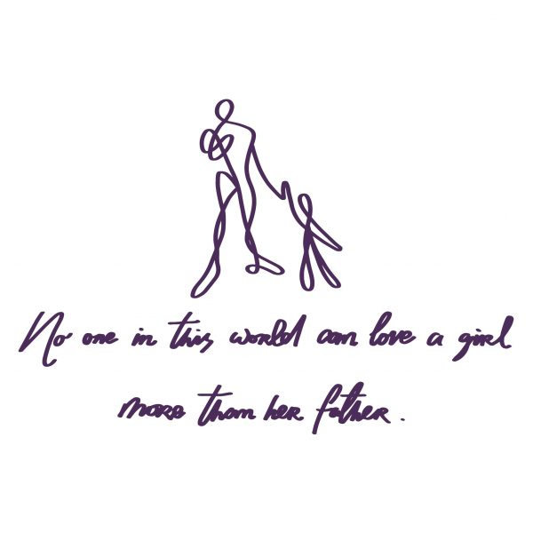 Decorative lettering wall sticker by CaptainText: father & daughter