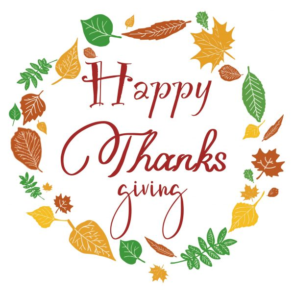 Decorative lettering wall sticker by CaptainText: Happy Thanksgiving