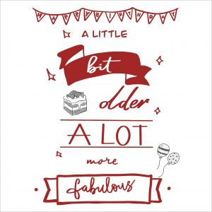 Decorative lettering wall sticker by CaptainText for birthday party