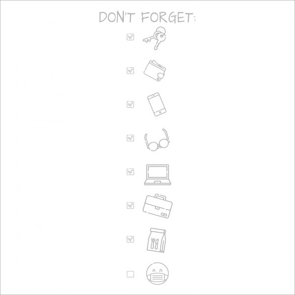Decorative lettering wall sticker by CaptainText: Don't Forget