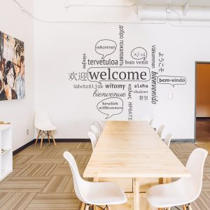 Decorative lettering wall sticker by CaptainText: Welcome