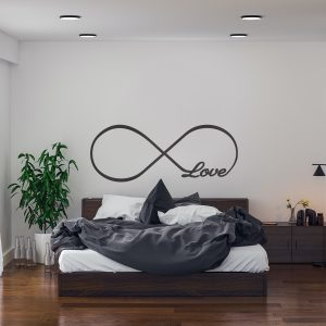 Decorative lettering wall sticker by CaptainText: Love
