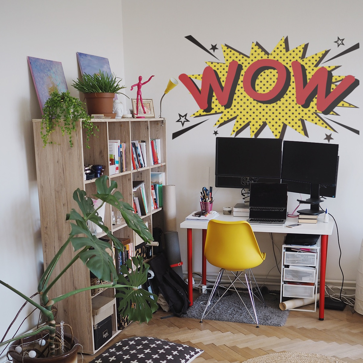 Decorative lettering wall sticker by CaptainText: Wow