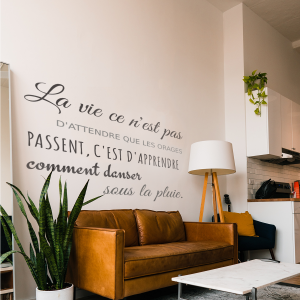 Decorative lettering wall sticker by CaptainText: French quote