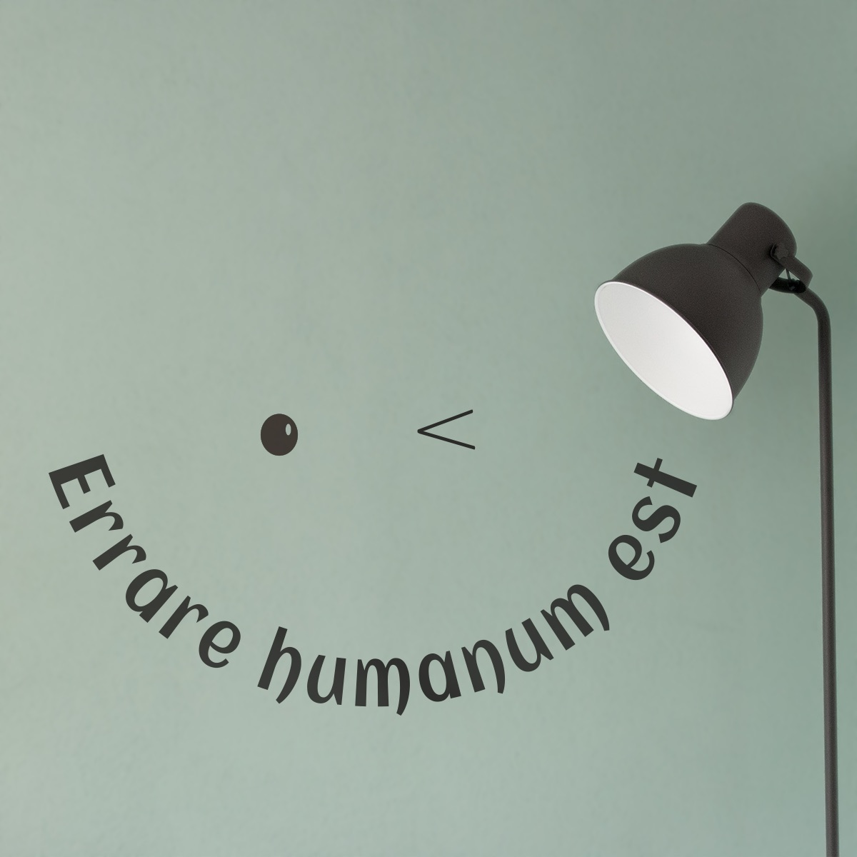 Our Decorative Lettering Concept: wall sticker by CaptainText: Errare humanum est