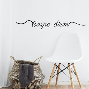 Decorative lettering wall sticker by CaptainText: Carpe Diem