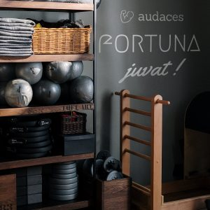 Decorative lettering wall sticker by CaptainText: Audaces Fortuna Juvat