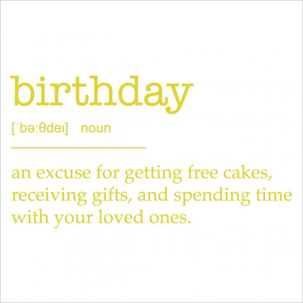 Decorative lettering wall sticker by CaptainText for a birthday